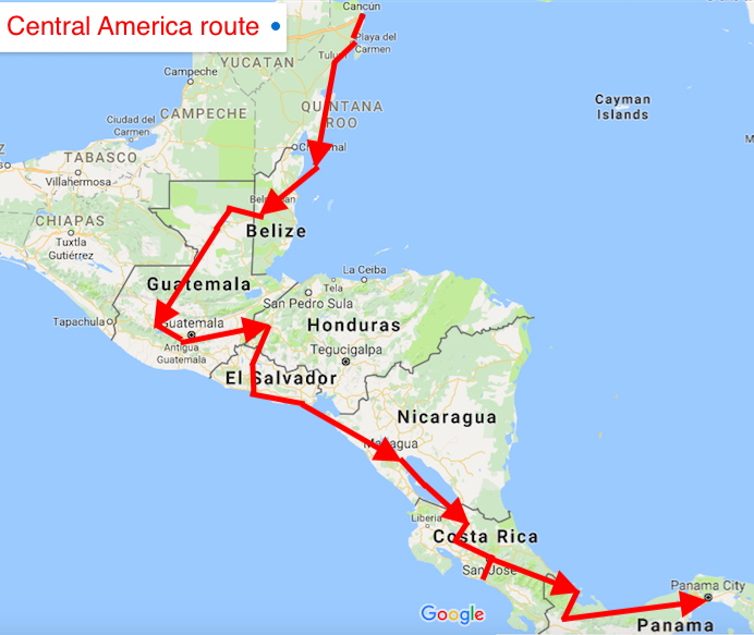 Central America 2 Month Itinerary frombluetogreencom