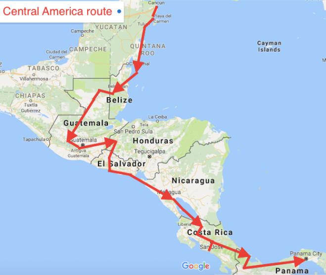 Backpacking In Central America: Central America Itinerary Pictures To Pin On Pinterest